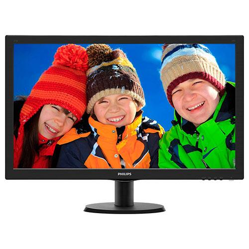 "27"" PHILIPS 273V5LHAB/00 WIDE MMEDYA LED MONITOR FULL HD SİYAH DVI+HDMI 5Ms"