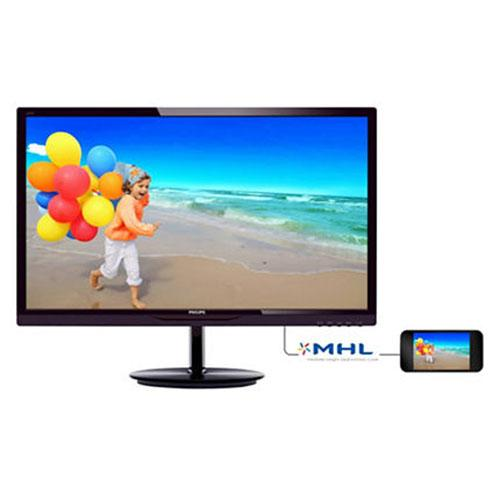 "28"" PHILIPS 284E5QHAD/00 WIDE  AH-IPS MONITOR MMEDYA FULL HD SİYAH MHL+DVI+HDMI"