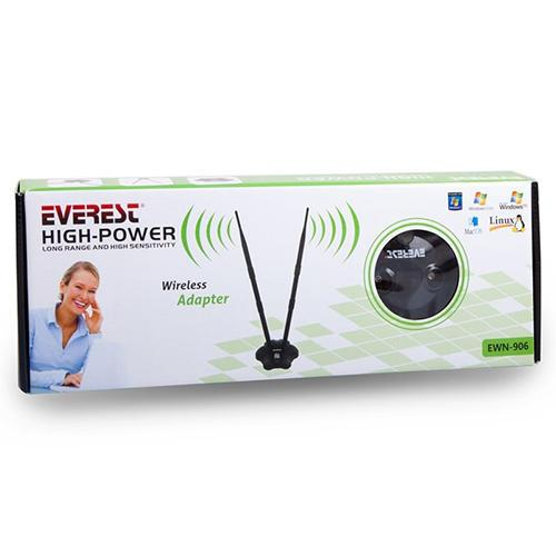 WL ADAPTOR USB EVEREST EWN-906N 300Mbps 2 ANTENLİ WIRELESS ADAPTÖR